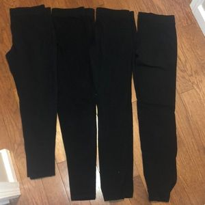 4 pairs of express black leggings